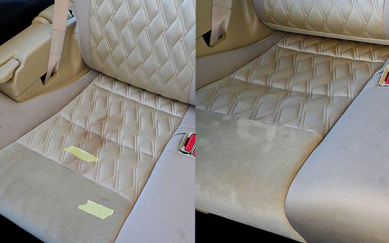 清掃前のシートの汚れ